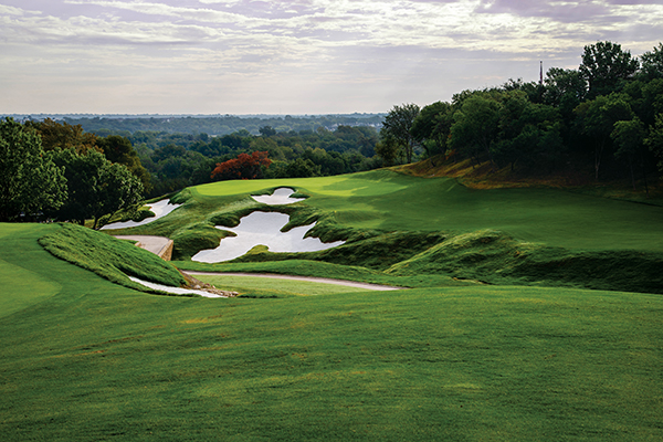 Shady Oaks GC in Fort Worth, Texas. The total course renovation by Ogilvy, Cocking and Mead includes new greens seeded to 777 bentgrass. (Photo Courtesy: Richard Hurley)