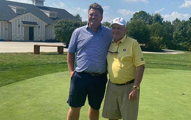 Tommy Southworth, president and COO of Southworth Development LLC and Jack Nicklaus. (Photo: Creighton Farms International)