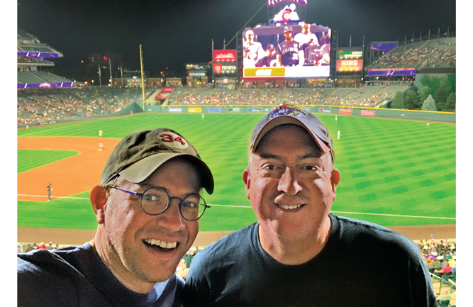 At the annual TOCA meeting in Denver, Mark LaFleur of Syngenta and Jones were able to catch a recent Colorado Rockies game. (Photo: Mark LaFleur)