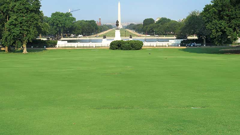 An after shot of the main lawn of Capitol Hill. (Photo: USGA)